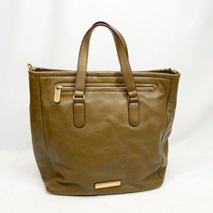 MARC BY MARC JACOBS Olive Green Leather Tote Bag